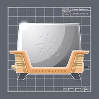 Galaxy Toaster - Tangerine Fine Art Print