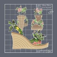Galaxy Shoes - Espadrille Tropicale Black Fine Art Print