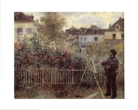 Monet Painting In His Gard Fine Art Print