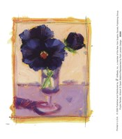 Purple Pansies Fine Art Print