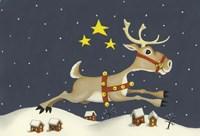 Santa's Reindeer Fine Art Print