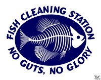 Fish Cleaning No Guts No Glory Fine Art Print
