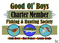 Good Ol Boys Hunting & Fishing Society Fine Art Print