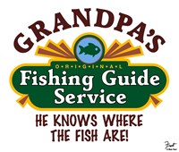 Grandpa's Fishing Guide Service Fine Art Print