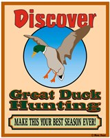 Discover Duck Hunting Fine Art Print