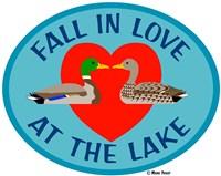 FallIn Love At The Lake Fine Art Print