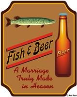 Fish & Beer Fine Art Print