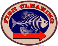 Fish Cleaning Arrow Fine Art Print