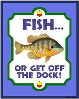 Fish Or Get Off Dock Fine Art Print