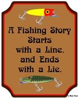 Fish Story Line Lie Fine Art Print
