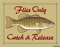 Flies Only Catch & Release Fine Art Print