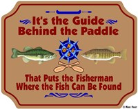 Guide Behind The Paddle Fine Art Print