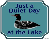 Just A Quiet Day At The Lake Fine Art Print
