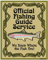 Official Fishing Guide Fine Art Print