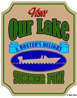 Our Lake Boaters Delight Fine Art Print