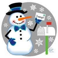 Snowman Mailbox Fine Art Print