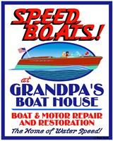 Speed Boats Fine Art Print