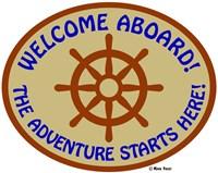 Welcome Aboard Adventure Framed Print