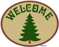 Welcome Tree Framed Print