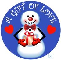 Snowman Gift Fine Art Print