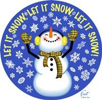 Snowman Let It Snow Fine Art Print