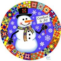 Snowman Quilt 1 Fine Art Print