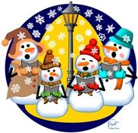Snowman Choir Fine Art Print