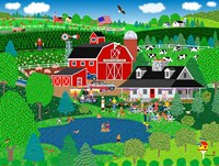 Apple Pond Farm Summer Framed Print