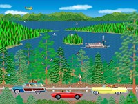 Cruising Lake Tahoe Fine Art Print