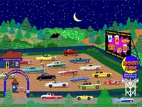 Moonrise Drive-In Fine Art Print