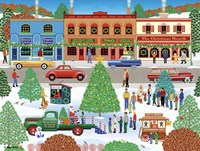 Visiting Santa Fine Art Print