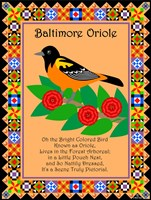 Baltimore Oriole Quilt Framed Print