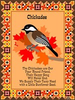 Chicadee Quilt Framed Print