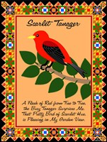 Scarlet Tanager Quilt Fine Art Print
