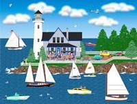 Summer Lighthouse Fine Art Print
