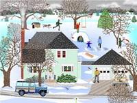Homestead In Winter Fine Art Print