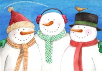 Three Snowmen Sing Fine Art Print