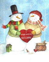 Warm Welcome Snowman Fine Art Print