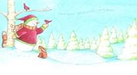 Snowman Bunnies Let It Snow Fine Art Print