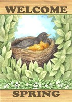 Welcome Spring Robin Fine Art Print