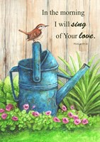 Wren Watercan, Psalm Fine Art Print
