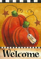 Pumpkin Autumn Welcome Fine Art Print
