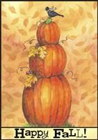Pumpkins Happy Fall Fine Art Print