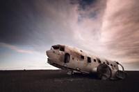 Iceland Plane Wreck Fine Art Print