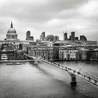 London Millenium Bridge Fine Art Print
