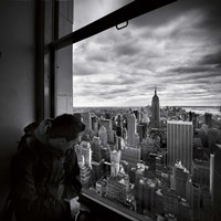 NYC Manhattan View Framed Print