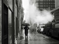 NYC Rain Framed Print
