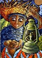 Boy & Lantern Fine Art Print