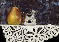 Pear And Silver Creamer Fine Art Print