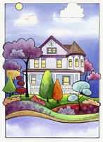 Victorian Inn on the River Fine Art Print